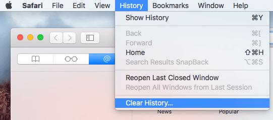 how to delete history on safari mac