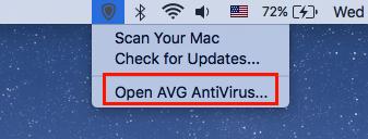 disable avg mac
