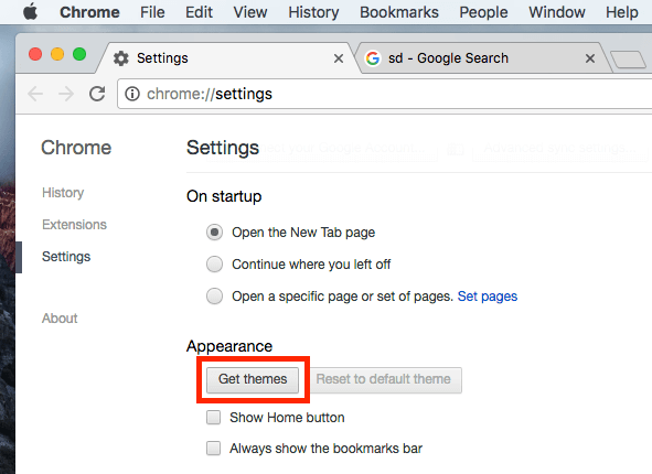 how to change the theme of google chrome browser on mac macos faq