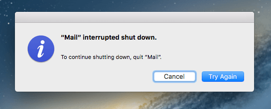 force quit mail on a mac